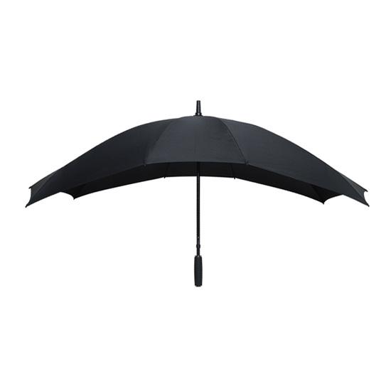 Twin sateenvarjo Musta