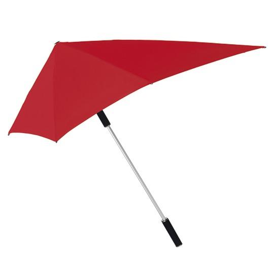 Myrskynkestävä sateenvarjo Punainen