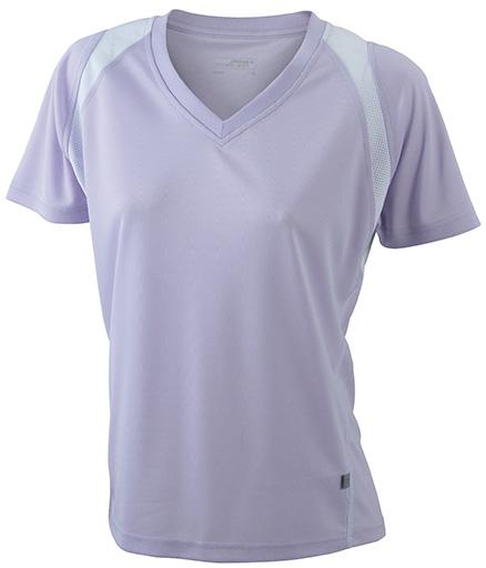 JN396 Naisten tekninen paita, lila/valko