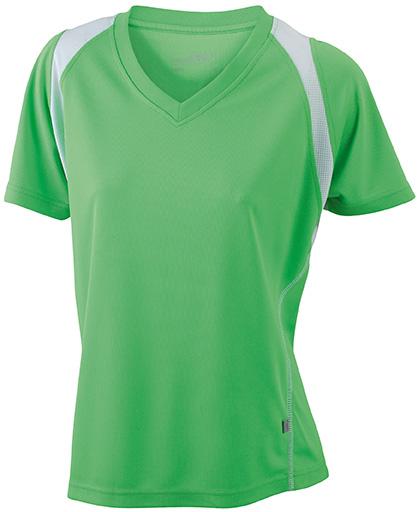 JN396 Naisten tekninen paita, Lime/valko