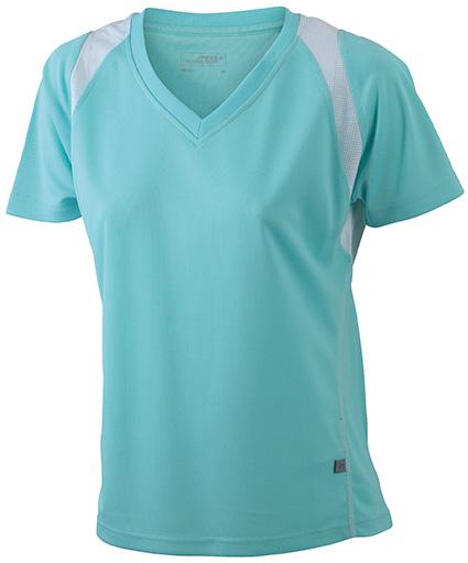 JN396 Naisten tekninen paita, Minttu/valko