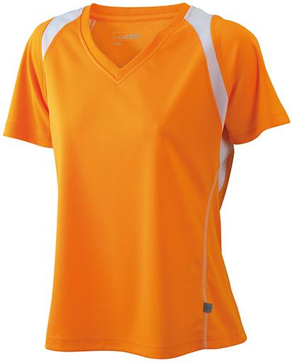 JN396 Naisten tekninen paita, Oranssi/valko