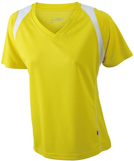 JN396 Naisten tekninen paita, Kelta/valko