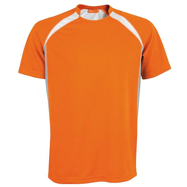 Tekninen T-Paita Sport oranssi-harmaa-valko