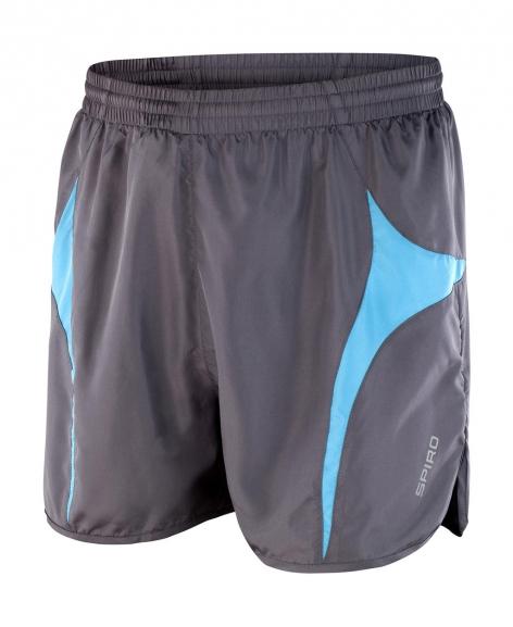 Juoksija shortsit harmaa-aqua
