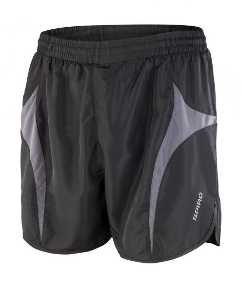 Juoksija shortsit musta-harmaa