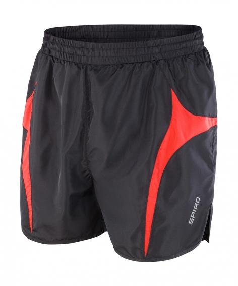 Juoksija shortsit musta-punainen