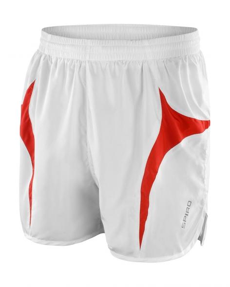 Juoksija shortsit valko-punainen