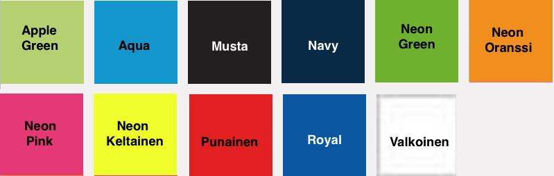 Lasten Sport t-paita värikartta