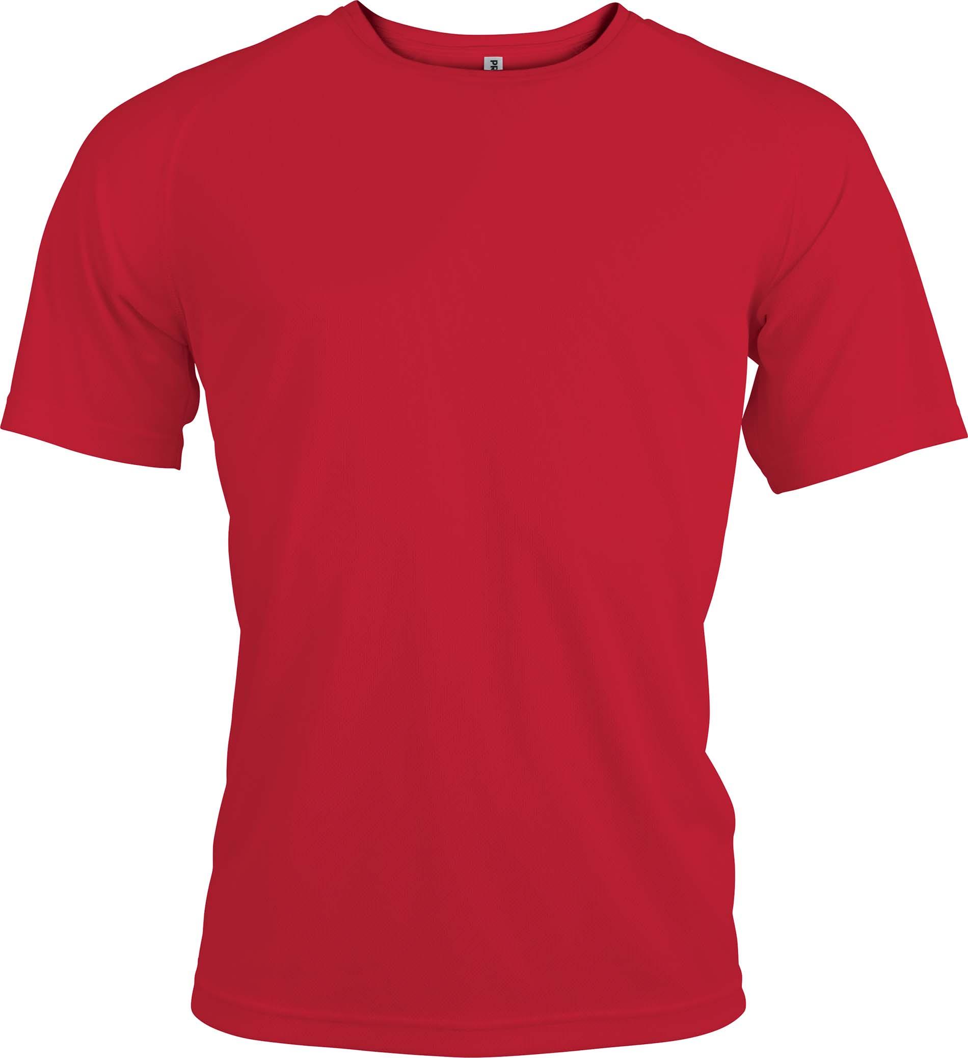 Miesten tekninen T-paita PA438 Punainen