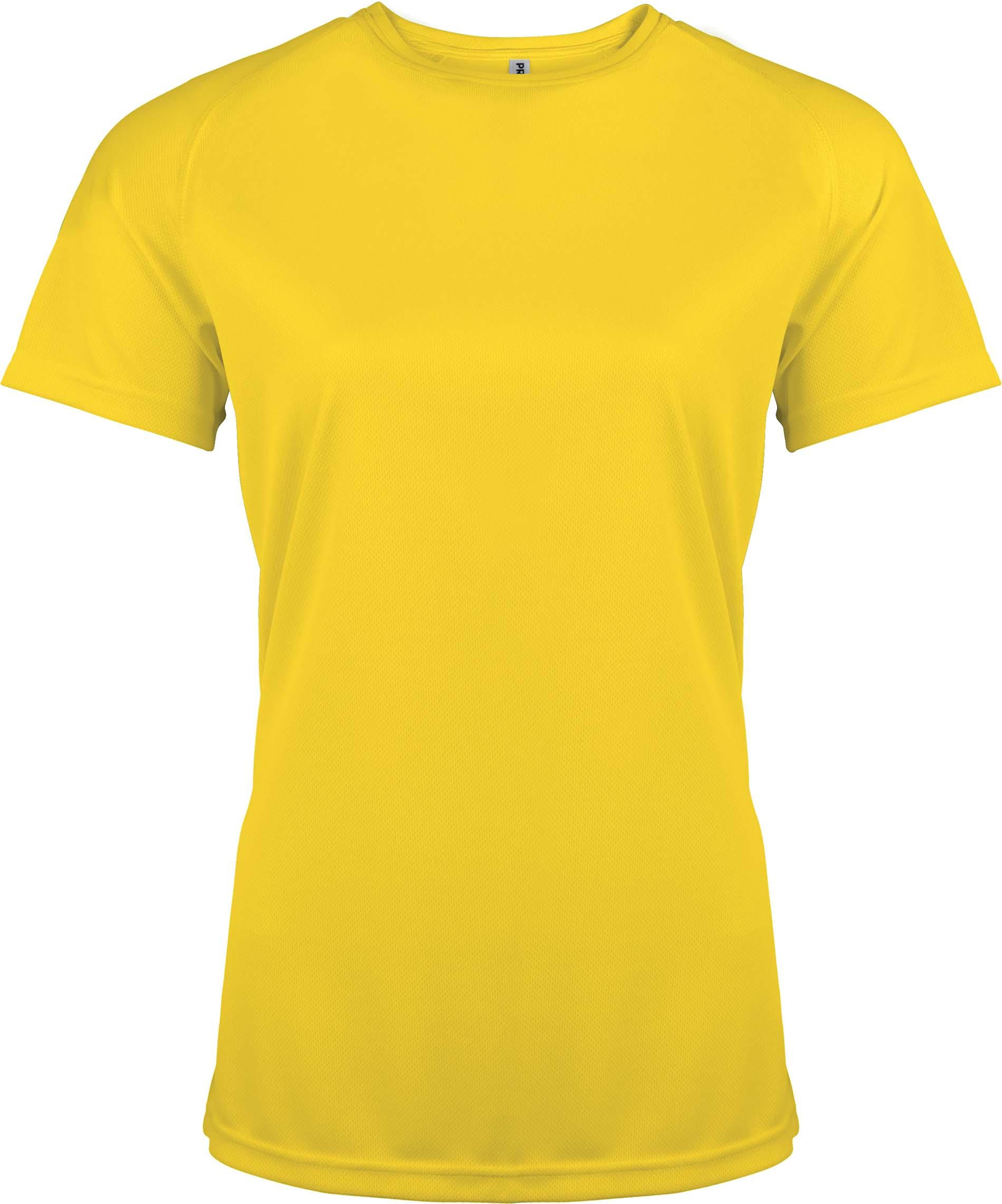 Naisten tekninen T-paita PA439 Keltainen