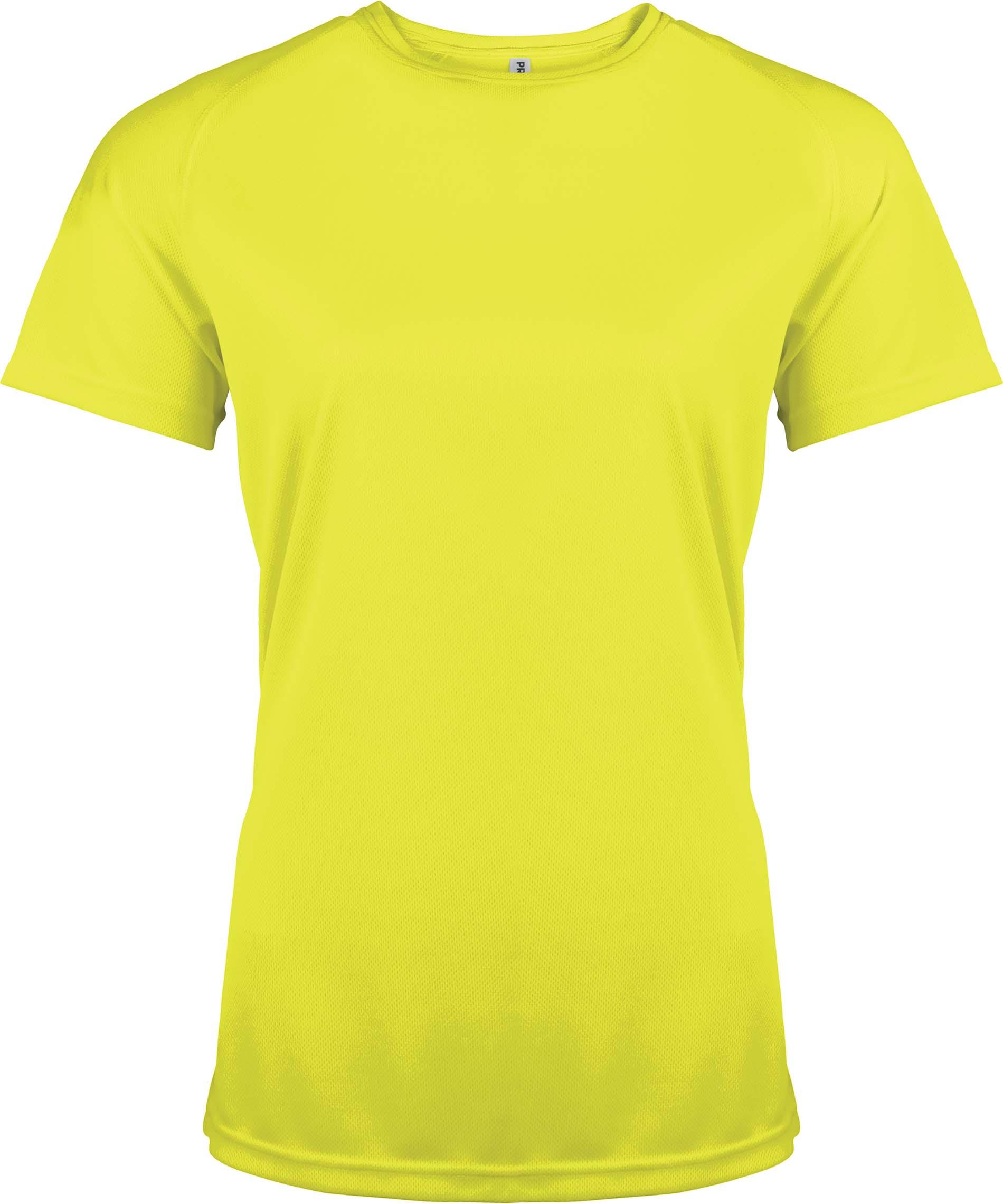 Naisten tekninen T-paita PA439 Neon Keltainen